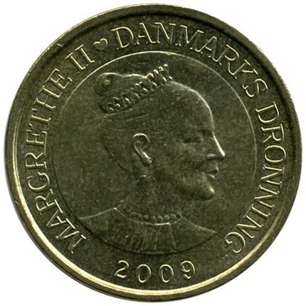 "DENMARK 20 KRONER 2009 SHIPS /""FAROESE BOAT/"" KM936 UNC"