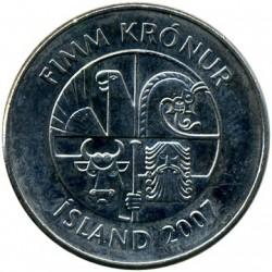 Монета > 5крон, 1996-2008 - Ісландія  - obverse