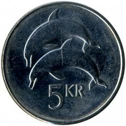 Монета > 5крон, 1996-2008 - Ісландія  - reverse