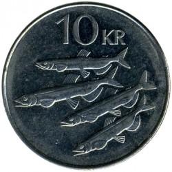 Monēta > 10kronu, 1996-2008 - Islande  - reverse