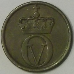 Coin > 2ore, 1958 - Norway  - reverse