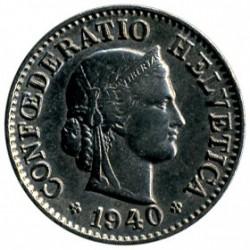 Монета > 5раппен, 1879-1980 - Швейцарія  - obverse