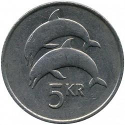 Mynt > 5kronur, 1981-1992 - Island  - obverse