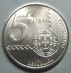 Moneta > 5euro, 2003 - Portugalia  (150 rocznica - Pierwszy portugalski znaczek pocztowy) - obverse