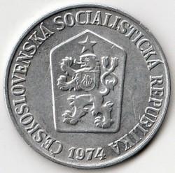 Moneda > 5hellers, 1962-1976 - Checoslovaquia  - obverse