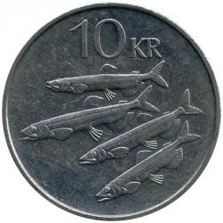 Pièce > 10couronnes, 1984-1994 - Islande  - reverse