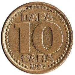Moneda > 10para, 1996-1998 - Yugoslavia  - reverse