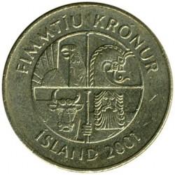 Pièce > 50couronnes, 1987-2005 - Islande  - obverse