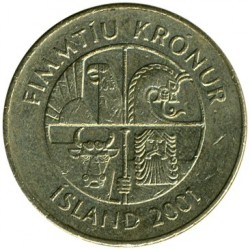 Pièce > 50couronnes, 1987-2005 - Islande  - reverse