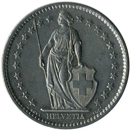 Helvetia монета 2 fr что делать с облигациями 1992 года