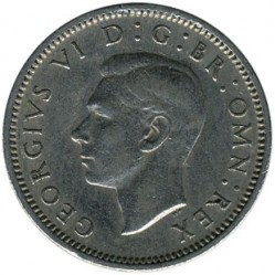 Coin > 6 pence, 1950 - United Kingdom  - obverse