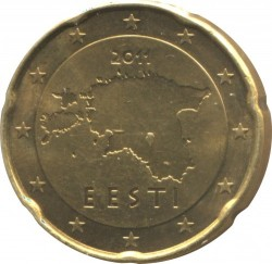 Монета > 20цента, 2011-2018 - Естония  - obverse