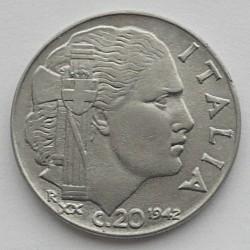 Moneta > 20čentezimų, 1939-1942 - Italija  - reverse