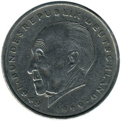 Coin > 2 mark, 1969-1987 - Germany  (Konrad Adenauer. 20th Anniversary - Federal Republic (1949 - 1969)) - obverse