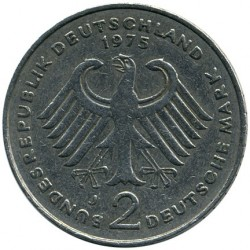 Coin > 2 mark, 1969-1987 - Germany  (Konrad Adenauer. 20th Anniversary - Federal Republic (1949 - 1969)) - reverse