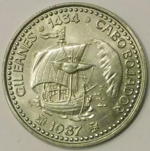 GIL EANES 1987 UNC 100 ESCUDOS PORTUGAL COMMEMORATIVE COIN