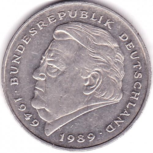 2 Mark 1990 2001 Franz Josef Strauß Deutschland Münzen Wert