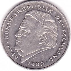 Moneda > 2mark, 1990-2001 - Alemanya  (40è aniversari - República Federal (1949-1989) - Franz Joseph Strauss) - reverse
