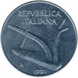 سکه > 10لیره, 1991 - ایتالیا  - obverse
