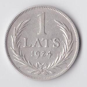Сколько стоит 1lats 1924г(серебро) где в курске можно продать старинные монеты