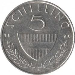 Moneda > 5chelines, 1990 - Austria  - reverse