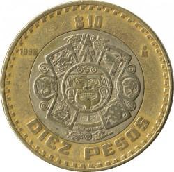 Coin > 10pesos, 1998 - Mexico  - obverse