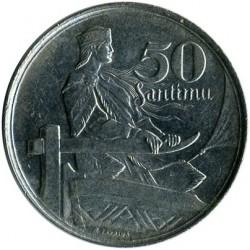 מטבע > 50סנטים, 1922 - לטביה  - reverse