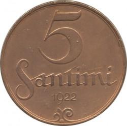 מטבע > 5סנטים, 1922 - לטביה  - reverse