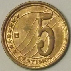 Münze > 5Centimos, 2007-2009 - Venezuela  - obverse