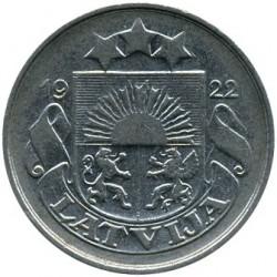 Монета > 20сантимів, 1922 - Латвія  - obverse