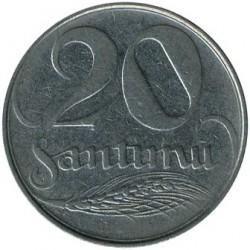 Монета > 20сантимів, 1922 - Латвія  - reverse