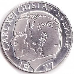 Münze > 1Krone, 1976-1981 - Schweden   - obverse