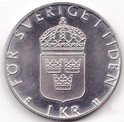 Münze > 1Krone, 1976-1981 - Schweden   - reverse