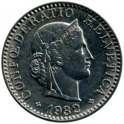 Moeda > 20rappen, 1881-1938 - Suíça  - obverse