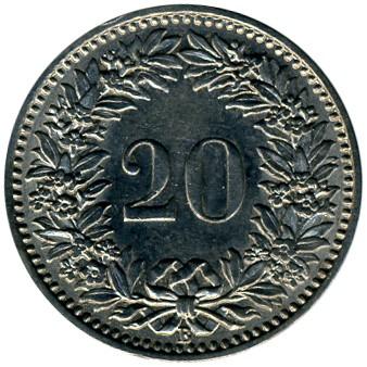20 Rappen 1881 1938 Schweiz Münzen Wert Ucoinnet