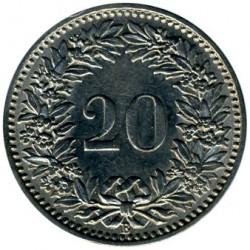 Moeda > 20rappen, 1881-1938 - Suíça  - reverse