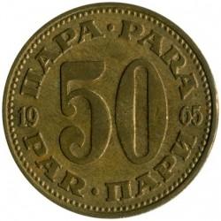 Moneda > 50para, 1965-1978 - Yugoslavia  - reverse