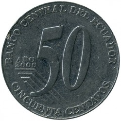 سکه > 50سنتاوو, 2000 - اکوادور  - obverse