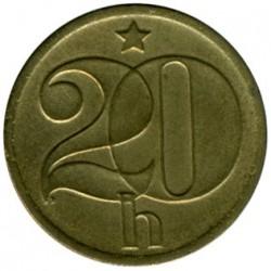 Moneda > 20hellers, 1972-1990 - Checoslovaquia  - reverse