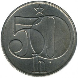 Moneda > 50hellers, 1989 - Checoslovaquia  - obverse