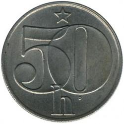 Moneda > 50hellers, 1989 - Checoslovaquia  - reverse