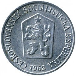 Moneda > 10hellers, 1961-1971 - Checoslovaquia  - reverse