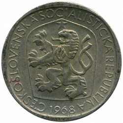 Moneda > 3koruny, 1965-1969 - Txecoslovàquia  - reverse