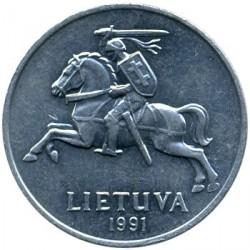 錢幣 > 2分, 1991 - 立陶宛  - obverse