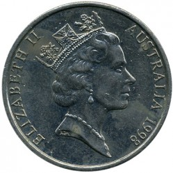 Монета > 20центів, 1985-1998 - Австралія  - obverse