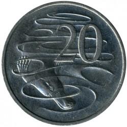Монета > 20центів, 1985-1998 - Австралія  - reverse