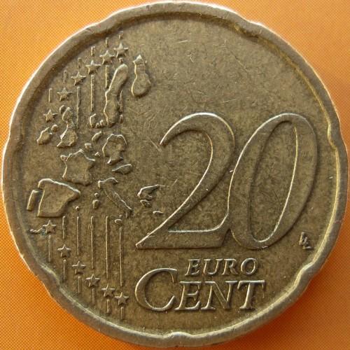 20 Eurocent 1999 Spanien Münzen Wert Ucoinnet