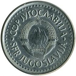 Pièce > 50dinara, 1988 - Yougoslavie  (Cuivre-Nickel / couleur grise /) - obverse