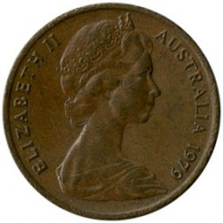 Minca > 1cent, 1966-1984 - Austrália  - obverse