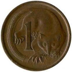 Minca > 1cent, 1966-1984 - Austrália  - reverse